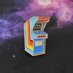 "Jewelry - Video Game Arcade ""Game Over"" enamel pin"